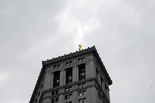 City Hall with Statue on Roof