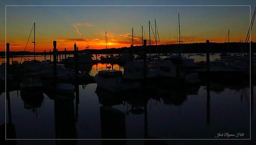 morning sunrise maine freeport mainecoast lobsterboats centralmaine maineharbor