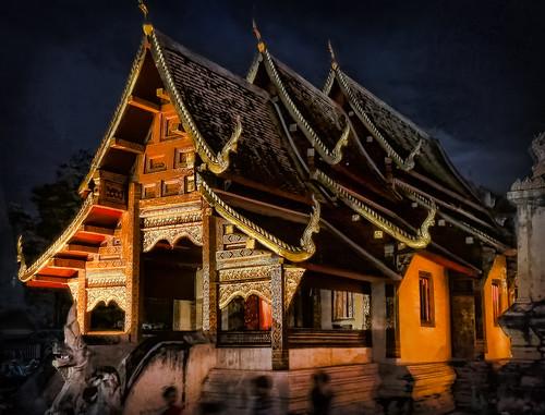 "Wat by Night - Chiangmai Thailand | by Keith ""Captain Photo"" Cuddeback"