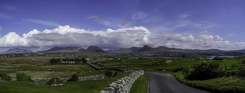 ireland mountains galway connemara renvyle