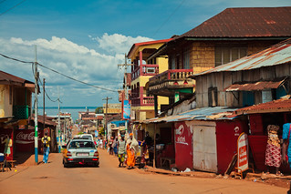 Street in Freetown, Sierra Leone | by bobthemagicdragon