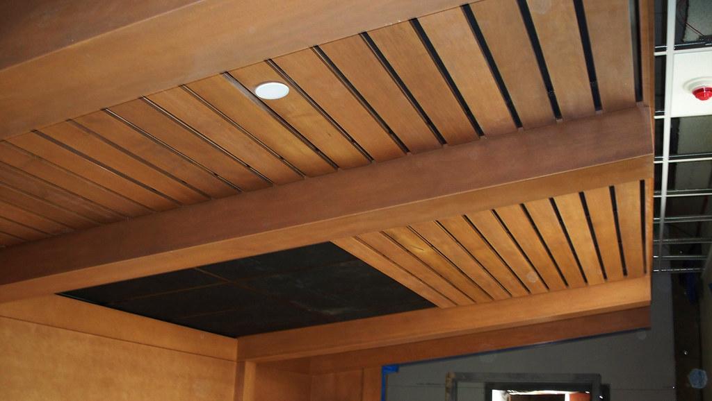 Wood Veneer Faced False Beams Match Existing Ceiling Flickr