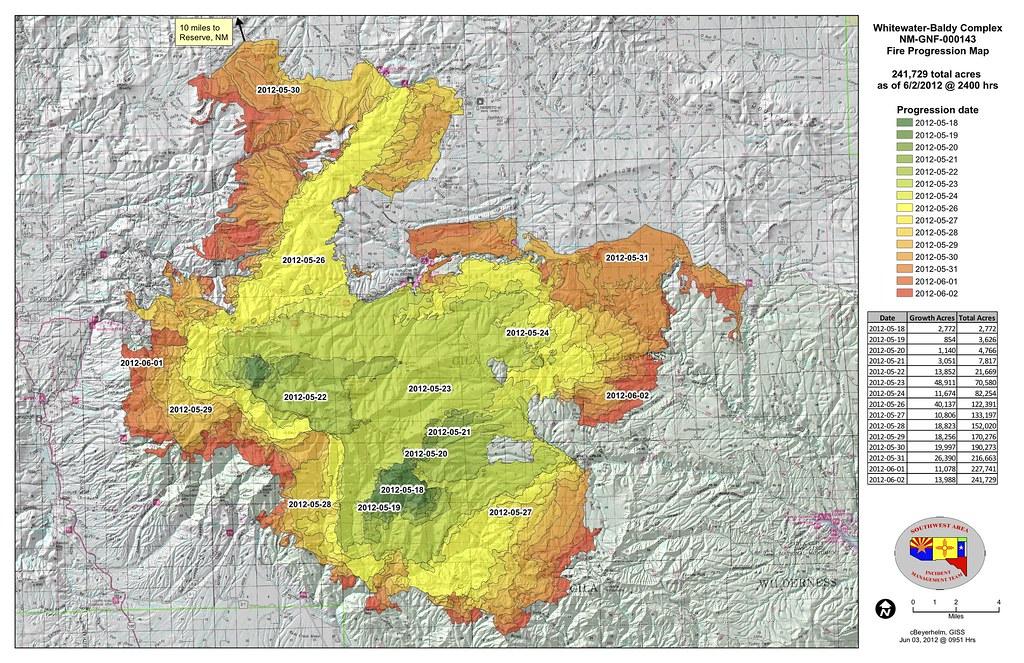 June 3 Fire Progression Map | Gila National Forest | Flickr