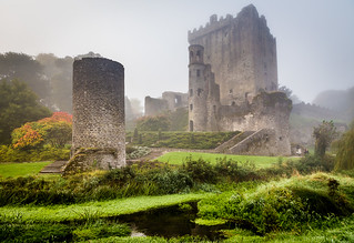 Blarney Castle in the fog