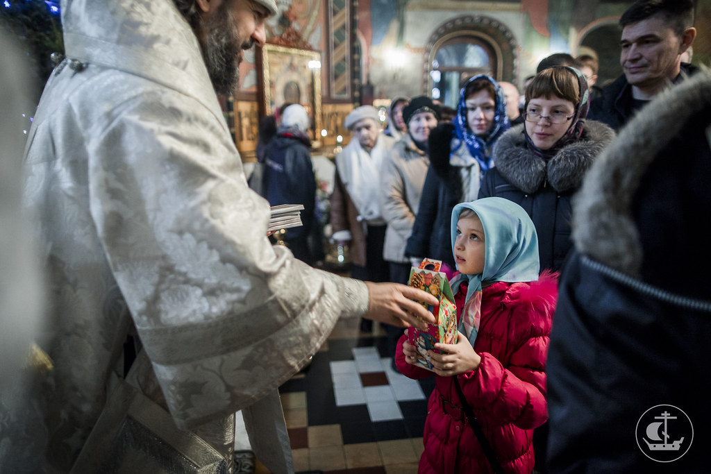 22 января 2017, Литургия в Петергофе / 22 January 2017, Divine Liturgy in Peterhof
