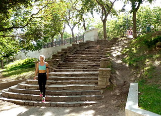 jogger in Budapest