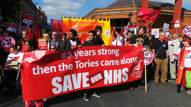 SAVE OUR NHS march at Conservative Party Conference 2013
