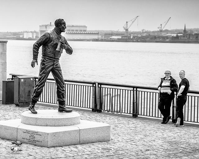 Statue Men Liverpool.