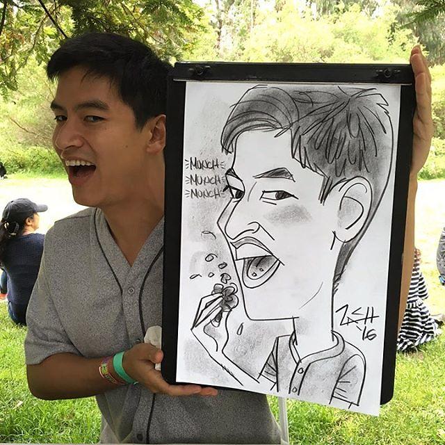 Company #picnic in #GoldenGatePark #caricatures #caricaturist #3min #tech  #sf #asana @teamasana