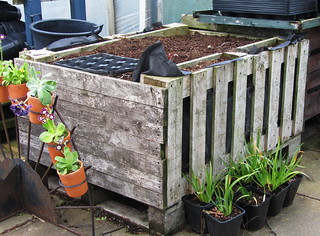 Recycled garden container | by scrappy annie