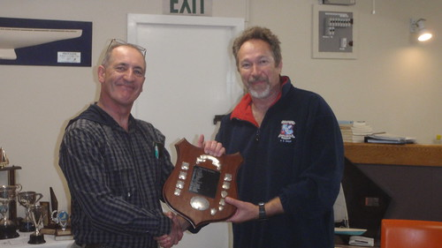 Don Harland receiving Shield for 1st place in Summer Handicap Series | by PLSC (Panmure Lagoon Sailing Club)