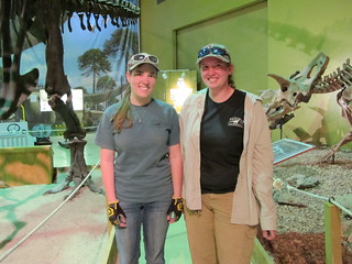 Wyoming Dinosaur Center, Thermopolis: Our awesome guides, Angela and Amanda | by mormolyke