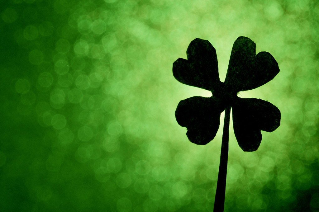 A Little Luck | Close-up of a small paper four-leaf clover t… | Flickr happiness...