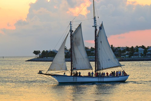 sunset sea west mike square boat key sailing dale florida photos national sail schooner tranquil mallory autofocus geograpic flickrstruereflection1