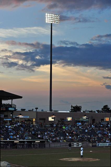 Baseball at Sunset