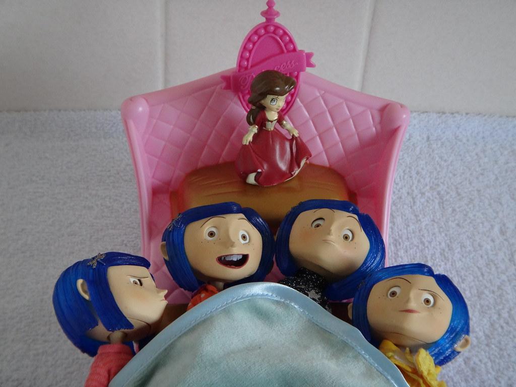 Neca Coraline Bendy Dolls Sweater Pj Raincoat And Sdcc Flickr