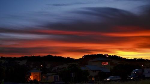 sunset night cloudy colorphotoaward