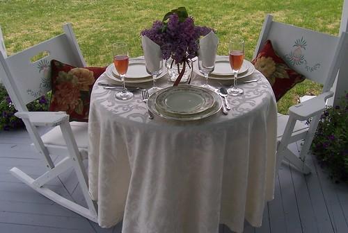 Table Setting, Cheseldine House, Bushwood