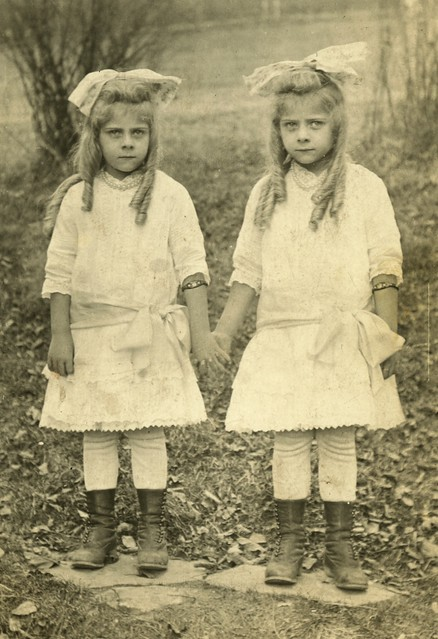 Twin Girls with Bows