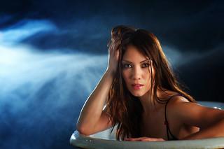 She Bathed In Blue | by TJ Scott