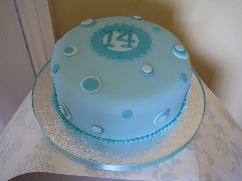 Tremendous 14Th Birthday Cake Simple Cake As A T For My Friends D Flickr Personalised Birthday Cards Veneteletsinfo