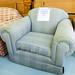 Grey gingham armchair