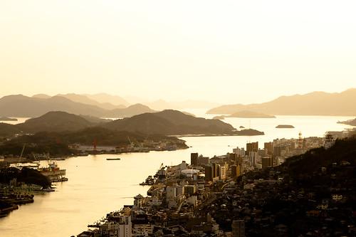 city sunset sea japan island gold evening 日本 空 onomichi 尾道 d700 makroplanar1002zf