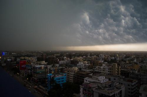 sky storm buildings landscape nikon day cityscape dhaka bangladesh d5100 arjurahman
