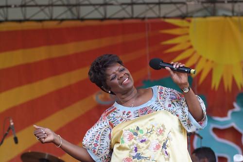Irma Thomas at Jazz Fest 2009. Photo by Leon Morris.