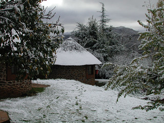 Rondavel en-suite, Malealea Lodge, Lesotho