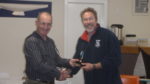 Don Harland receiving River Race Trophy for 1st place | by PLSC (Panmure Lagoon Sailing Club)