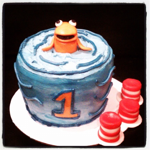 Outstanding Dr Seuss Fishbowl Birthday Cake Ad Fondant Cupcake Hat To Flickr Personalised Birthday Cards Epsylily Jamesorg