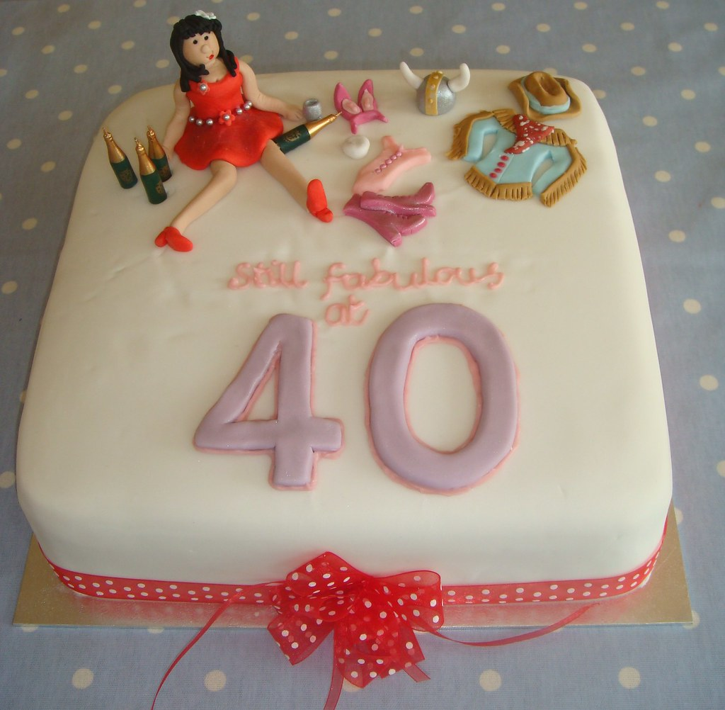 Admirable Still Fabulous At 40 Birthday Cake For More Information Flickr Personalised Birthday Cards Cominlily Jamesorg