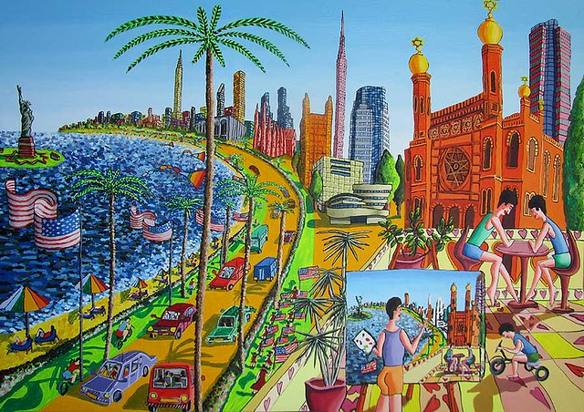 new york naive painting art gallery on the city of ny usa united state buy sale art artwork artworks primitive child artist artists painter painters