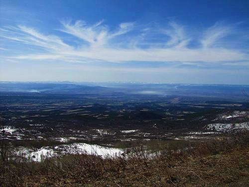 winter sky mountains clouds rural haze colorado geology fires cedaredge grandmesa