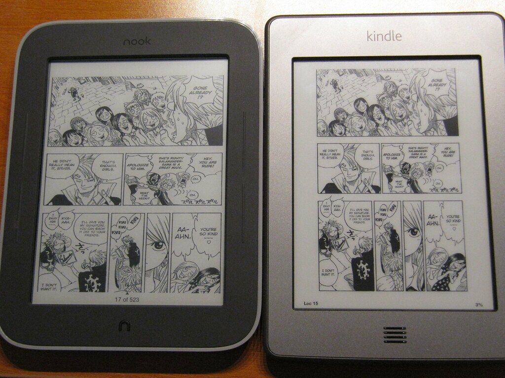Manga on Nook Touch (w/ Glowlight) vs  Kindle Touch | Flickr