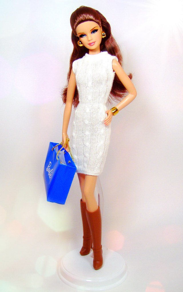 NEW Barbie The Look City Shine Doll Black /& Silver Clutch ~ Model Muse Purse