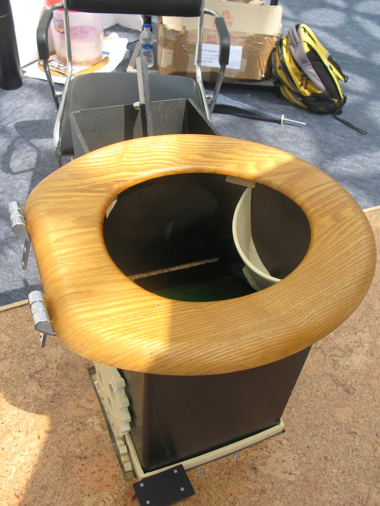Fine Urine Diversion Toilet Seat With Black Saw Dust Dispense Pdpeps Interior Chair Design Pdpepsorg