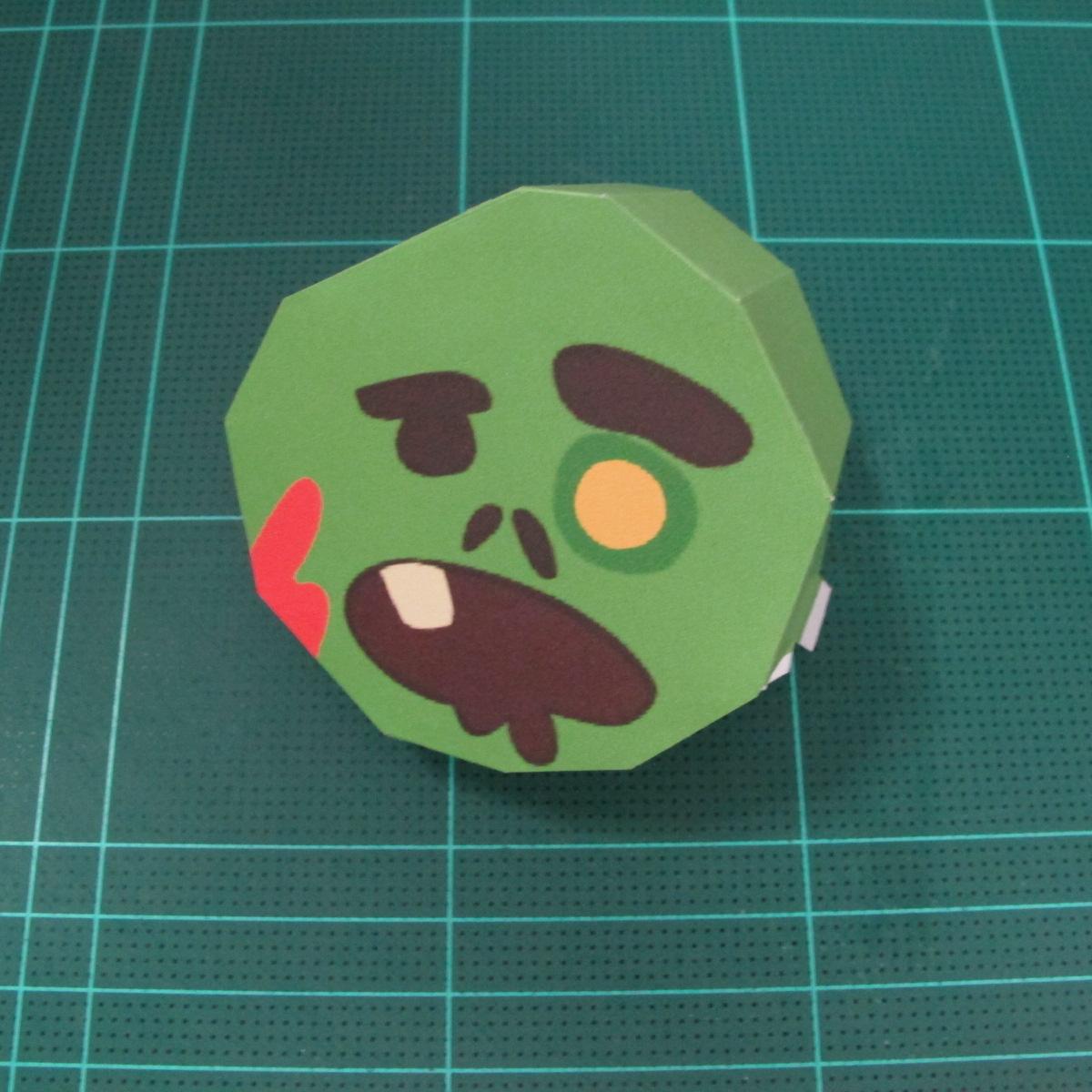 วิธีทำโมเดลกระดาษตุ้กตา คุกกี้ รัน คุกกี้รสซอมบี้ (LINE Cookie Run Zombie Cookie Papercraft Model) 003