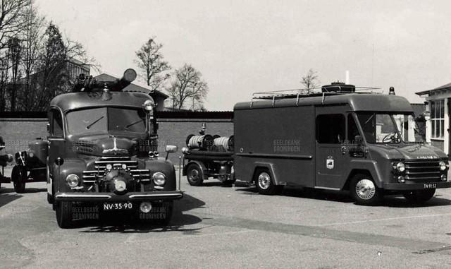 Ford Köln NV-35-90 Commer TN-91-32 Brandweer Leek