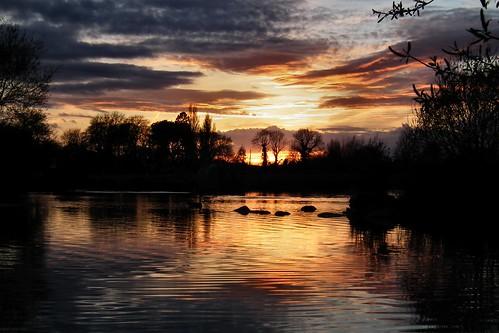 sunset wales reflections eveningsun buckley flintshire northwales newales
