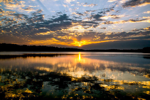 lake clouds sunrise day cloudy arkansas hdr fayetteville partly realistichdr