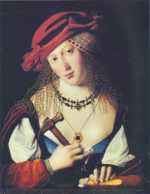 Bartolomeo Veneto - Donna Ebrea con gli attributi di Joele