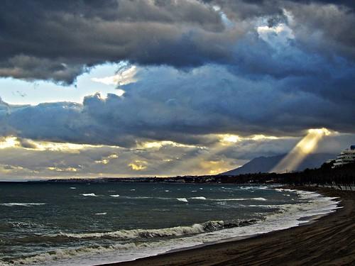 sunset españa night atardecer mar spain cloudy andalucia costadelsol puestadesol málaga marbella