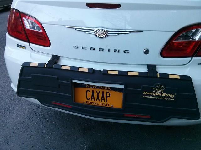 custom car plate: CAXAP means SUGAR
