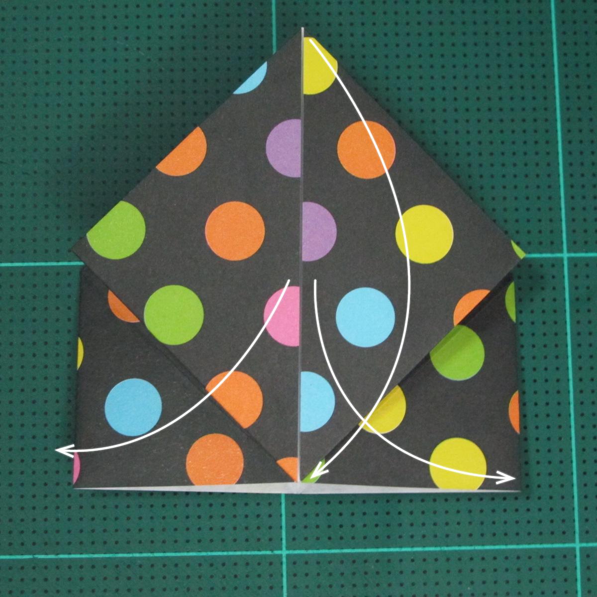 การพับกระดาษเป็นถุงใส่ขนมแบบญี่ปุ่น (Origami Sambo) 007