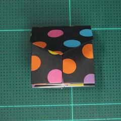 การพับกระดาษเป็นถุงใส่ขนมแบบญี่ปุ่น (Origami Sambo) 012