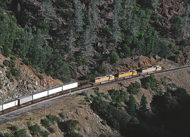 UP near  Pulga, CA on July 14, 1988