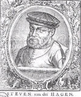 Afkomstig uit de verzamelband reisverhalen bijeengebracht door drukker Saeghman, (ong. 1663) waarin het verhaal van Van der Hagens tweede reis is beschreven. De afbeelding stelt echter Van der Haghen niet voor!