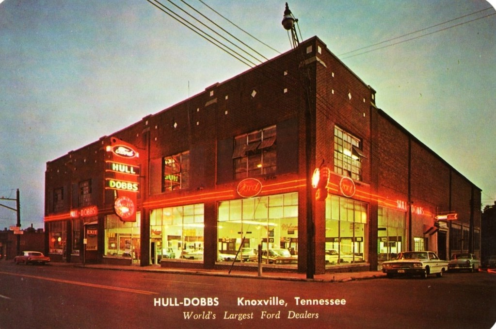 Car Dealerships In Knoxville Tn >> Hull-Dobbs Ford, Knoxville, Tennessee, 1960s - a photo on ...